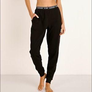 Calvin Klein jogger pant pockets black pj lounge
